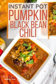 Instant Pot pumpkin chili is like fall in a bowl! It's an easy recipe to whip up in the pressure cooker, using ground beef, black beans, and pumpkin puree to create a warm, savory chili--perfect for cool nights! Pumpkin Chili, Canned Pumpkin, Pumpkin Puree, Easy Soup Recipes, Chili Recipes, Pumpkin Recipes, Black Bean Chili, Black Beans, Frugal Meals