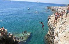 Cliff Jumping -  Kamenjak National Park  -Istria, Croatia