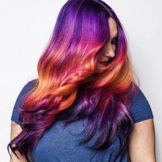 """417 Likes, 18 Comments - St Louis Hair Artist (@kristinacheeseman) on Instagram: """"Hair in Motion - I used Pulp Riot Velvet+Noir, Jam, Cupid+Fireball, Lemon+Fireball, Lemon and B3…"""""""