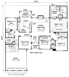 The Barkley House Plans First Floor Plan - House Plans by Designs Direct.
