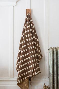 African Mudcloth Tan Triangles by ShopCocodyMarket on Etsy