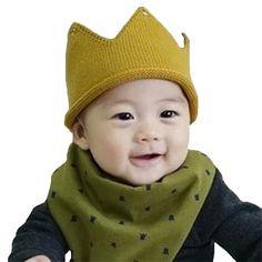 Crown Baby bibs bandana baby bib for boys girls bibs Kids Burp Cloths Cotton scarf double side all can wear #Affiliate