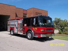 Woodstock Fire Department:   (91-01) Apparatus Type: 2007 American LaFrance Pumper  9101Date of delivery: December 2007  Colour: Red and Black  Chassis and cab: ALF Liberty  Engine Make: Cummins ISL Diesel  Horsepower: 400HP