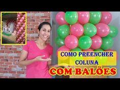 COMO PREENCHER COLUNA COM BALÕES - YouTube