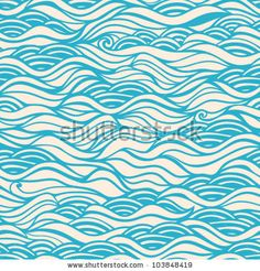 Seamless wave hand-drawn pattern, waves background (seamlessly tiling).Can be used for wallpaper, pattern fills, web page background,surface...