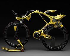 """Hybrid bike concept """"INgSOC"""" by Edward Kim and Benny Cemoli. The vehicle would operate as a traditional bike, but also to battery"""