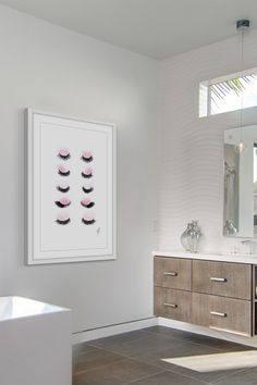 Image of Marmont Hill Inc. Rows of Lashes Framed Print Wall Art