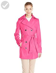 Calvin Klein Women's Db Trench Coat, Hibiscus, Small - All about women (*Amazon Partner-Link)