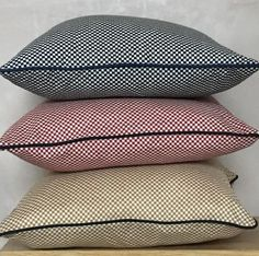 A brand new addition! These very stylish cushions come in 3 different colourways, gold, red and blue. The cushion uses the super soft checkered (or chequered) c