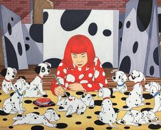 """634 Likes, 8 Comments - AXD (@artsxdesign) on Instagram: """"Tag your favorite artist here! // Yayoi Kusama by José Rodolfo Loaiza @rodolfoloaiza #rodolfoloaiza…"""""""