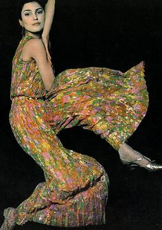 1966 Jean Louis Pleated Pyjamas