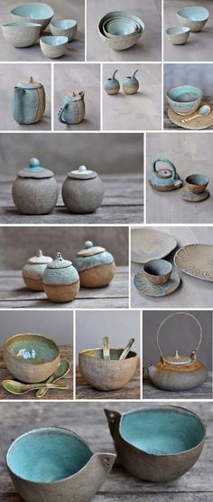 Ceramics by Ana Haberman Keramik von Ana Haberman Ceramic Clay, Ceramic Bowls, Ceramic Pottery, Pottery Art, Slab Pottery, Glazed Pottery, Porcelain Ceramic, Pottery Wheel, Ceramics Projects
