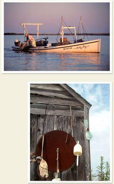 crabbing at sunrise and crabbing buoys - Smith Island MD