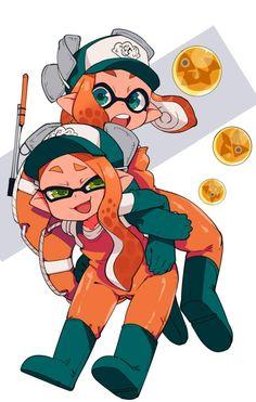 Splatoon salmon run Splatoon 2 Game, Nintendo Splatoon, Salmon Run, Video Game Art, Video Games, Funny Drawings, Fanart, Best Games, Animal Crossing