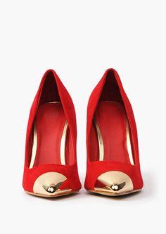 Teresa Steel Toe Pump red