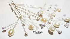 Bridal Hair Pins Set of 3 Pearl Hair Pin by BridalShopDelilah Pearl Hair Pins, Bridal Hair Pins, Bridal Accessories, Karma, Hair Clips, Bobby Pins, Fans, Relax, Pearls