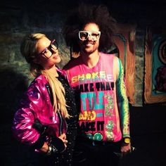 Paris & Red Foo rocking their watches at Sundance 2012. #TBT #ThrowbackThursday #Watches #XWatch #ParisHilton #LMFAO