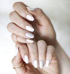 A beautiful manicure from Paula from Thirteen Thoughts using Ready, Set, Jet and Diamond in the Rough | #nails #glitterdaze #nailpolish #neutrals #manicure #nailart #pastel