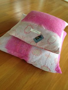 vintage kantha pillow covers
