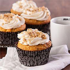 Honey Buttercream Pumpkin Cupcakes, gluten-free, dairy-free. Rosh Hashanah dessert with a twist. {recipe}