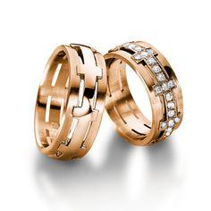Rose Gold Wedding Bands from Furrer Jacot.   #rosegold #furrerjacot #mayfairjewellers #weddingrings