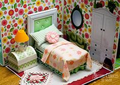 Amazing collapsible dollhouse made from vintage LPs!  Second Chances by Susan: Collapsible Dollhouse