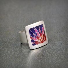 Enthusiasm of colours ring by ANDjewelleryDesign on Etsy