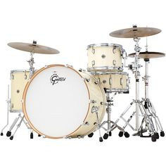 """Gretsch Drums Catalina Club Rock 4-Piece Shell Pack with 24, in """"White Chocolate."""" I love the color, and I need a 24"""" kick."""