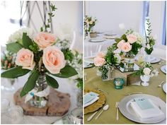 Teal and Peach Country Chic Wedding - Bridal Musings Wedding Blog
