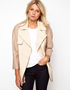 3bdd97e172c1 ASOS PU Sleeve Jacket - Perfect transition from a leather biker to Spring  jacket.