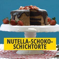 Nutella-Schoko-Schichttorte - Famous Last Words Best Nutella Recipes, Healthy Mug Recipes, Mug Cake Healthy, Baking Recipes, Mug Dessert Recipes, Egg Recipes For Breakfast, Easy Desserts, Cake Recipes, Dessert Simple