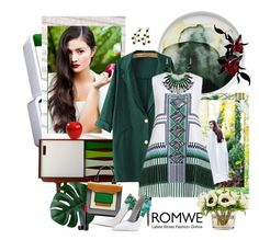 """""""Romwe 123."""" by carola-corana ❤ liked on Polyvore featuring Marimekko, Pierre Hardy, The French Bee, Laura Geller and romwe"""