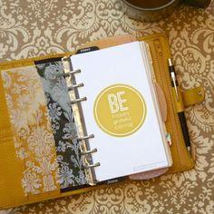 be happy | freebie friday for Personal and Pocket planners #filofax | iloveitallwithmonikawright.com
