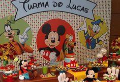 30 ideias incríveis para fazer uma festa da Turma do Mickey!                                                                                                                                                                                 Mais
