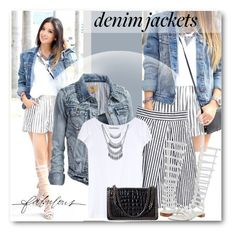 """""""Fabulous Denim Jackets"""" by brendariley-1 ❤ liked on Polyvore featuring Tome, Acne Studios, Stuart Weitzman, Wet Seal and Zara"""