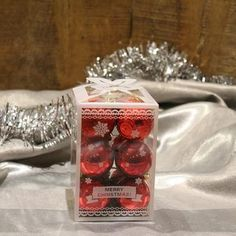 SMALL BAUBLE (BOBBLE) - CHRISTMAS HANGING TREE DECORATION (SET OF 12)