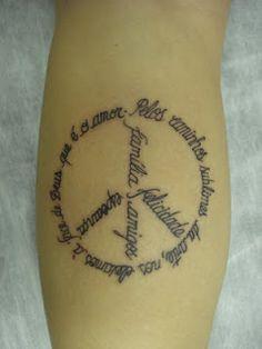 tatto do simbolo da paz