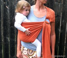 New Gauze TWO LAYER Baby Sling with stretch  Rust by RaspberryBaby, $44.95 ( for when I have grandbabies )