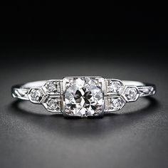 vintage engagement ring - $2750, .50cts, SI1 clarity, K color, European cut, art deco