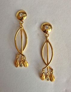 vintage-esque diamond gold earrings