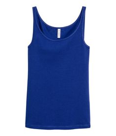 Cornflower blue. Fitted tank top in soft jersey.