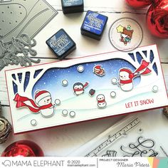 mama elephant | design blog: STAMP HIGHLIGHT: Let It Snow