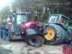 Massey Ferguson 550 crashed - YouTube