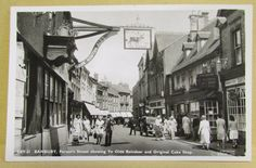 Old Real Photo Busy Town Street Scene Postcard - Banbury Oxfordshire | eBay