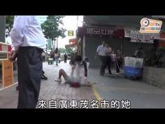 Cô gái lăn ra đường ăn vạ vì bị chia tay
