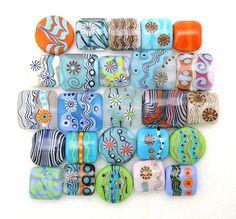 Bead Mix Roundup Pillows & Lentils Handmade Lampwork by imakebeads