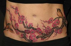 c section cover up tattoos | scar cover up. This is what I want to do with my c-section scar.