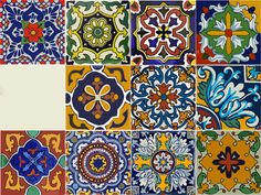 Mexican Talavera tile decal: You will receiev 11 designs x 4 = 44 tile decals in one order pack. You can select the size from right side size drop down