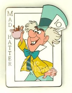 Mad Hatter card pin from Fantasies Come True