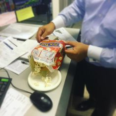 Happy Friday!!! It calls for microwave  popcorn  #happyfriday #friyay #fridayfood #popcorn #deskfood